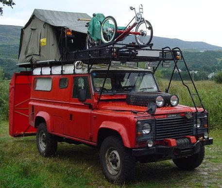 & Johnu0027s Land Rover camping page